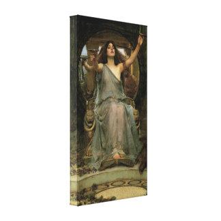 Circe que ofrece la taza a Ulises por el Impresion En Lona