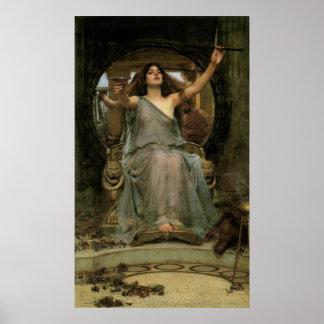 Circe que ofrece la taza a Ulises por el Póster
