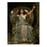 Circe que ofrece la taza a Ulises por el Tarjetas Postales