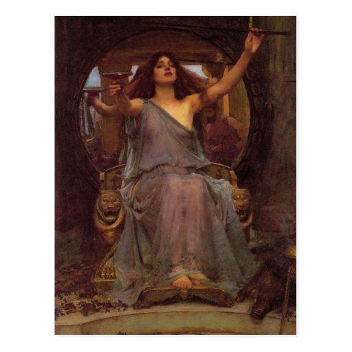 Circe que ofrece la taza a Ulises Postal