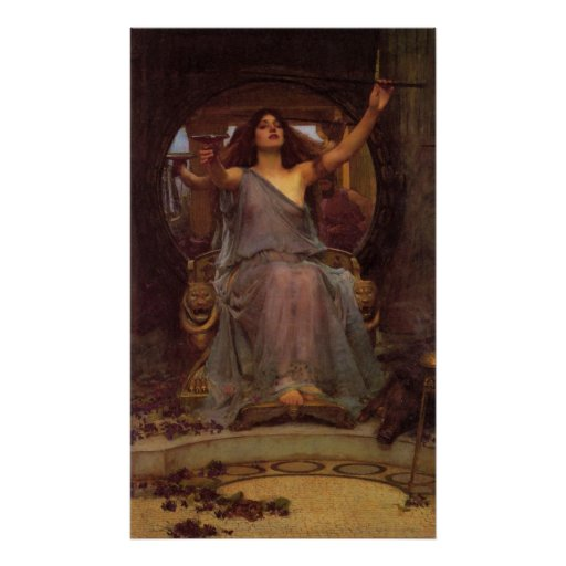 Circe que ofrece la taza a Ulises Póster