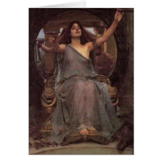 Circe que ofrece la taza a Ulises Tarjeta De Felicitación