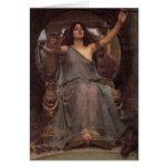Circe que ofrece la taza a Ulises Tarjetas