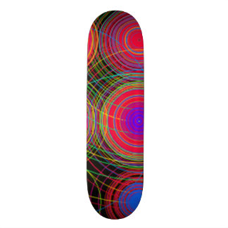 Circels and swirls multicolored pattern skateboard