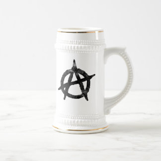 'circle a' anarchy symbol beer stein