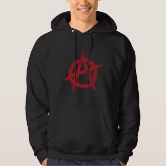 'circle a' anarchy symbol hoodie