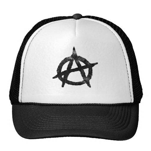 'circle a' anarchy symbol mesh hat