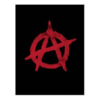 'circle a' anarchy symbol postcard