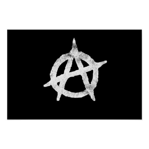 'circle a' anarchy symbol poster