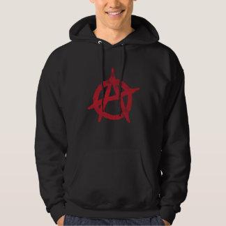 'circle a' anarchy symbol pullover