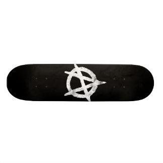 'circle a' anarchy symbol skateboard