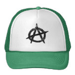 'circle a' anarchy symbol trucker hats