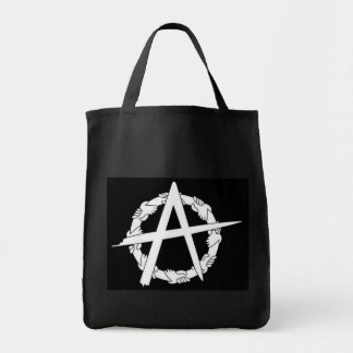 circle-a hands black grocery bag