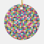 Circle Abstract Pattern Double-Sided Ceramic Round Christmas Ornament