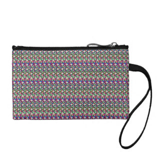 Circle abstract pattern key coin clutch