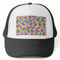 Circle Abstract Pattern Trucker Hat