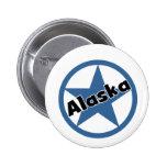 Circle Alaska Pinback Buttons