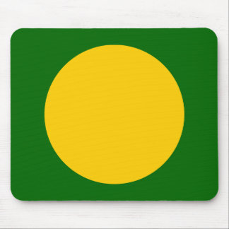 Circle - Amber with Dp Grass Green Mouse Pad