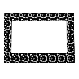Circle and a Dot Magnetic Photo Frame - Black