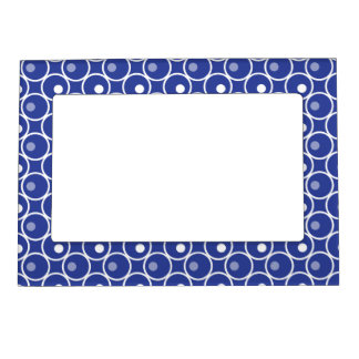 Circle and a Dot Magnetic Photo Frame - Blue