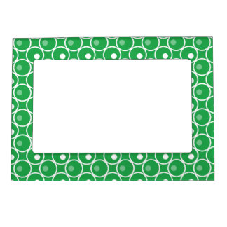 Circle and a Dot Magnetic Photo Frame - Green