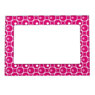 Circle and a Dot Magnetic Photo Frame - Hot Pink