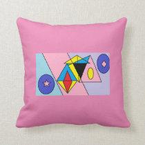 Circle and abstract pillow