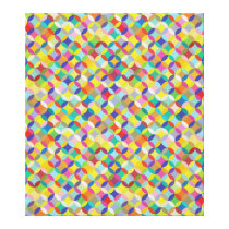 Circle and Diamond Colorful Pattern Design Canvas Print