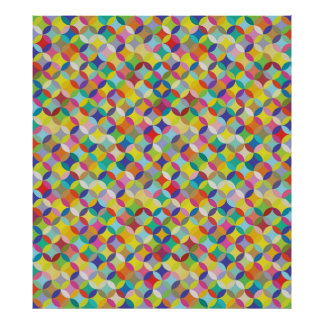 Circle and Diamond Colorful Pattern Design Poster