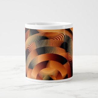 Circle and Fringe Textile Design Nectrine Giant Coffee Mug