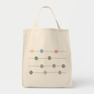 Circle and Line Organic Grocery Tote Bag