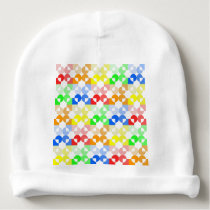 Circle and square shapes repeating pattern colors baby beanie