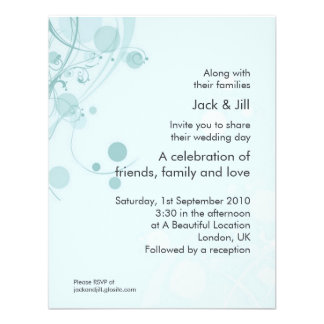 Circle and Swirl (blue) 4.25x5.25 Personalized Invite