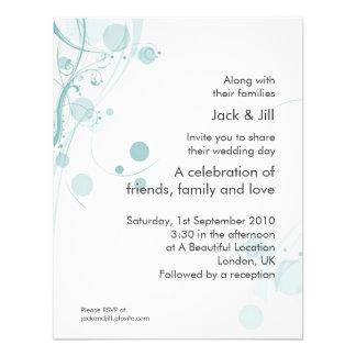 Circle and Swirl (mist) 4.25x5.25 Personalized Invitation