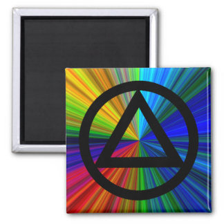 Circle and Triangle Recovery Sobriety Magnet