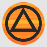 Circle and Triangle Recovery Sobriety Sticker
