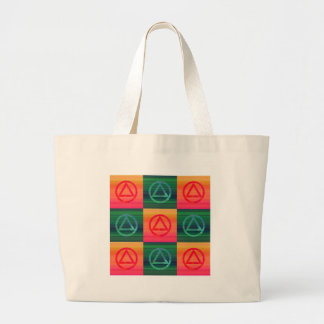 Circle and Triangle Recovery Sobriety Tote Bag