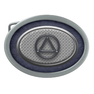 Circle and Triangle Sobriety Recovery Belt Buckle