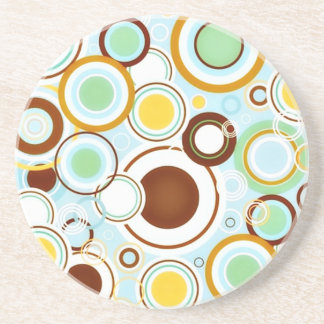 Circle Around Sandstone Drink Coaster