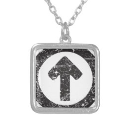 Circle Arrow Silver Plated Necklace