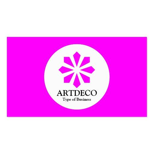 Circle - Art Deco - Magenta Business Card