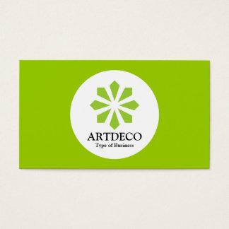 Circle - Art Deco - Martian Green Business Card