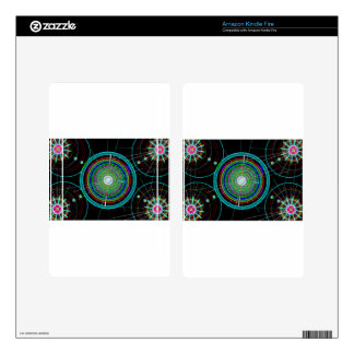 Circle Art Decal For Kindle Fire