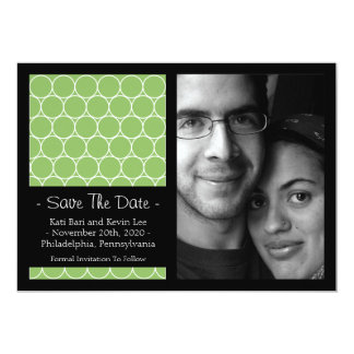 Circle Background Save The Dates (Lime Green) Card