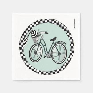 Circle Bike Paper Napkin