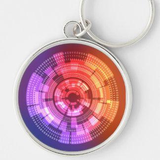 Circle Binary Code Keychain