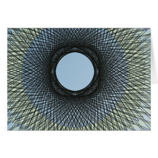 circle blend in harmonize with black abstract art card