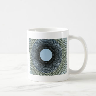 circle blend in harmonize with black abstract art coffee mug