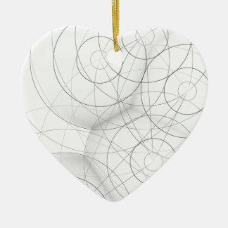 Circle Blob Design Ceramic Ornament