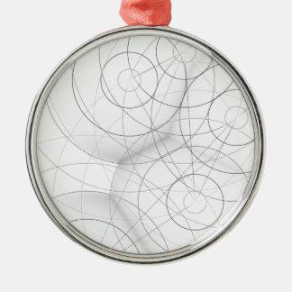 Circle Blob Design Metal Ornament